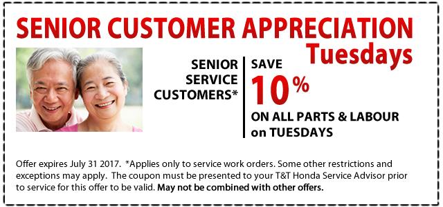 Senior Customer Appreciation Tuesdays