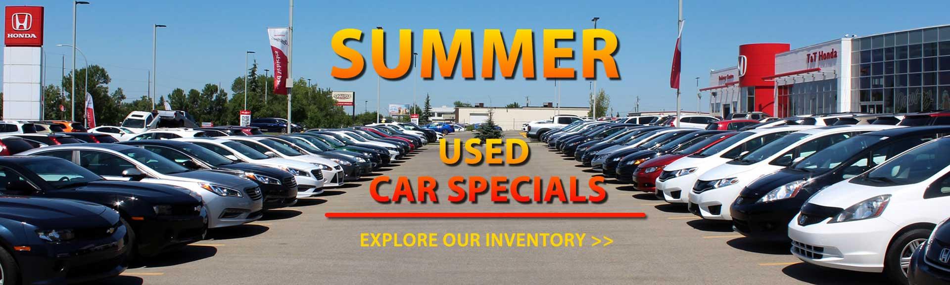 Summer Used Car Specials