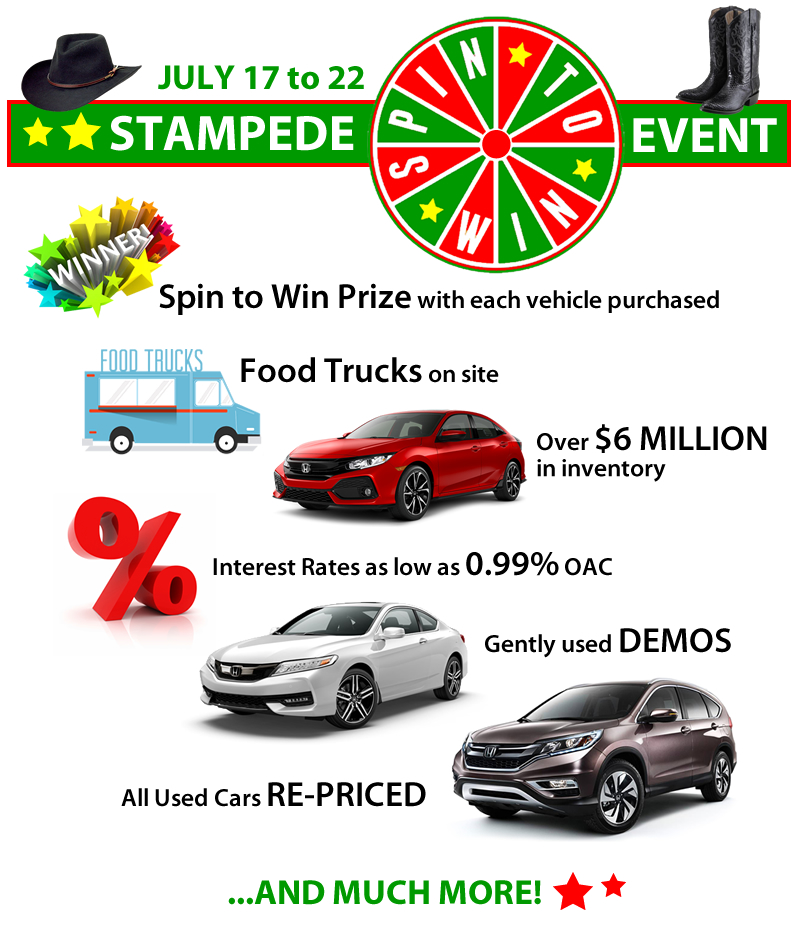 Stampede Spin to Win Event