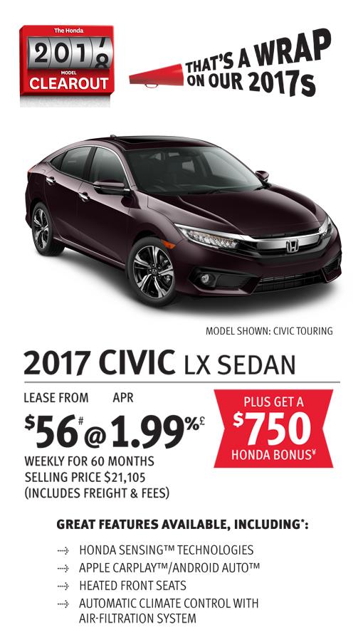 2017 CIVIC LX SEDAN