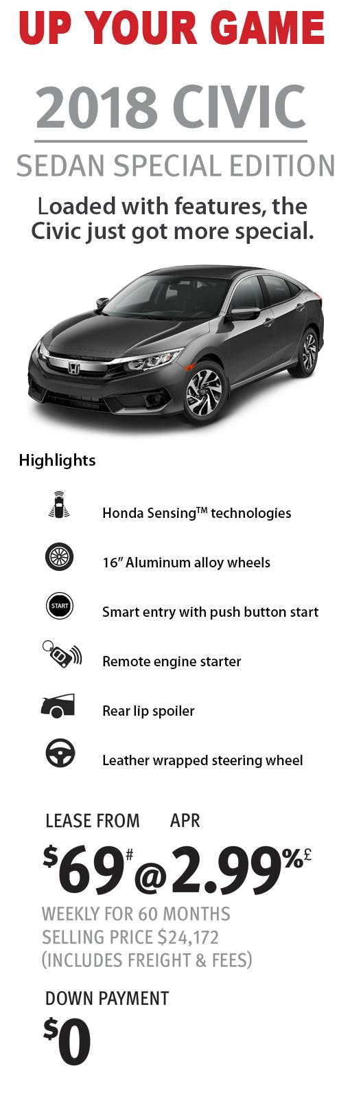 2018 Civic Sedan SE