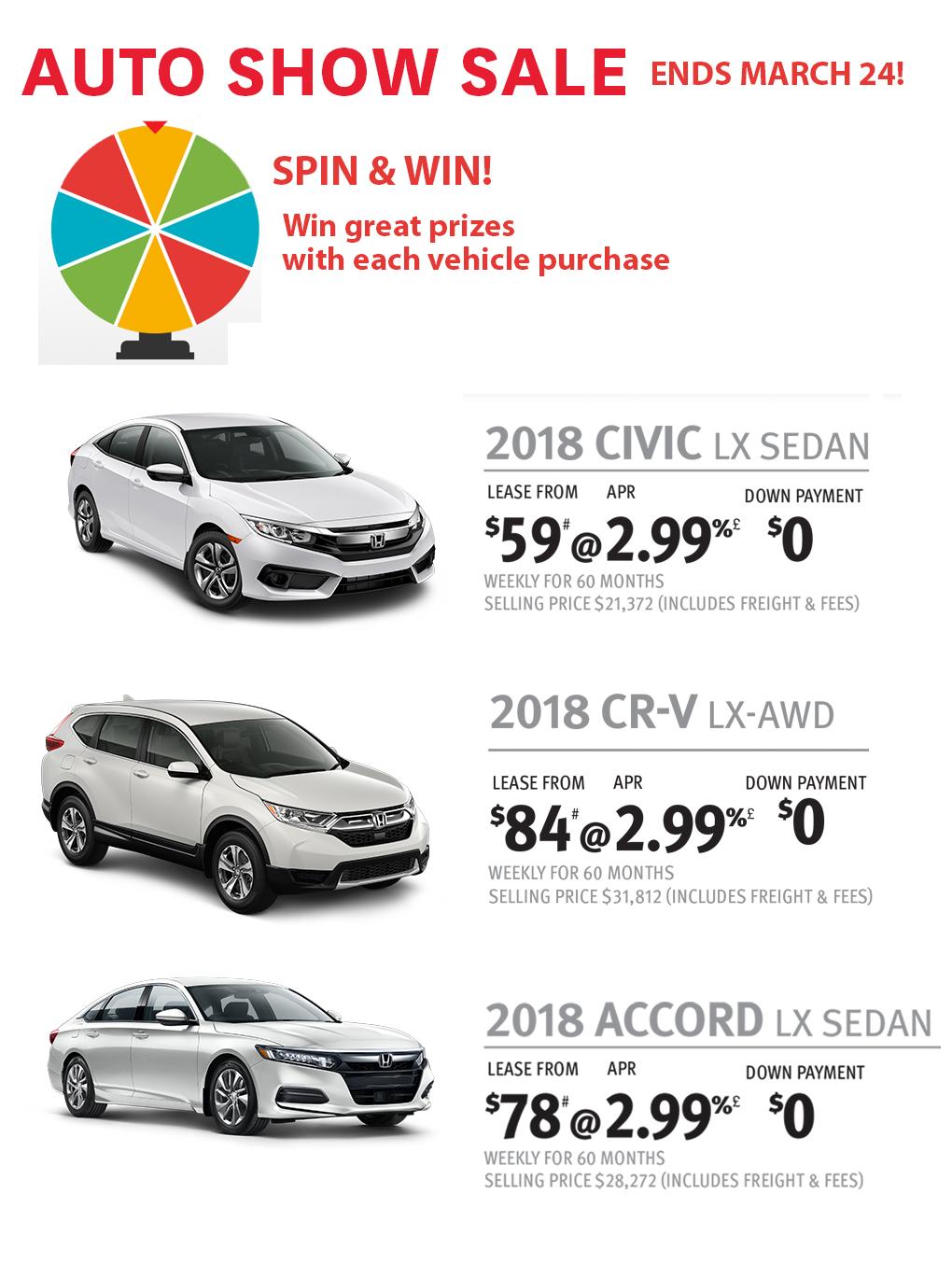 Auto Show Sale