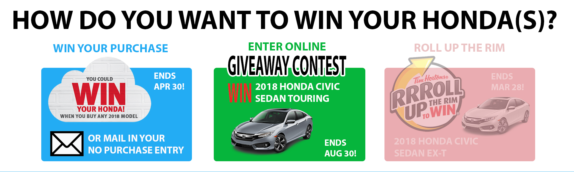 How Do You Want to Win Your Honda?