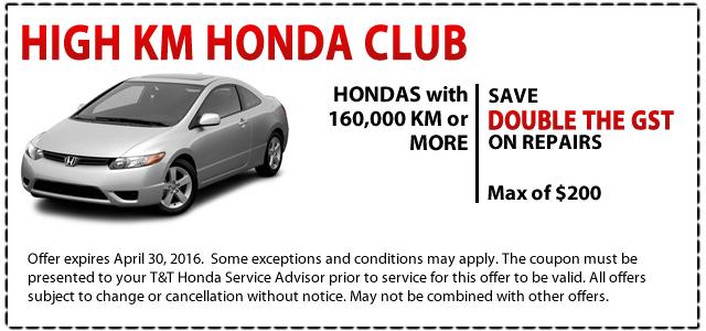 High Km Honda Club Savings