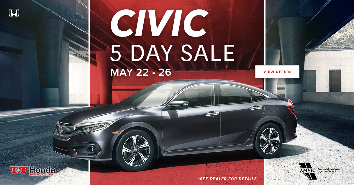 Civic 5 Day Sale