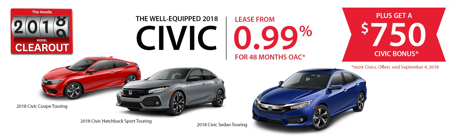 2018 Honda Civic Clearout